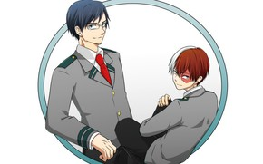 Picture round, guys, Boku No Hero Academy, Todoroki Shoto, My Hero Academy, Tenya Iida