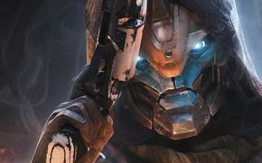 Picture robot, hood, Destiny 2, Cayde-6