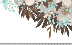 Picture white, background, flower, vintage, background, pattern, seamless