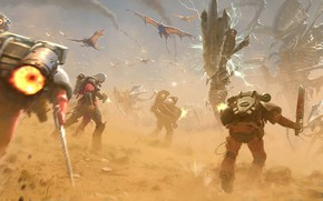 Picture Warhammer 40000, Jose Daniel Cabrera Peña, chaos space Marines, assault infantry, jump packs, Flesh tearers …