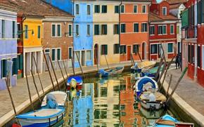 Picture island, Italy, Venice, Burano