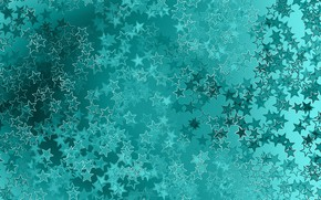 Picture stars, background, turquoise