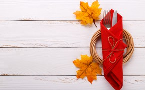 Picture autumn, leaves, background, Board, knife, plug, maple, wood, background, autumn, leaves, serving, maple
