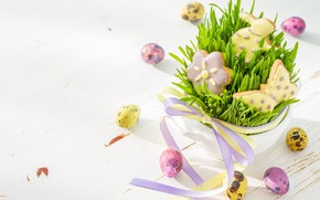 Picture holiday, eggs, spring, cookies, Easter, tape, decoration, composition