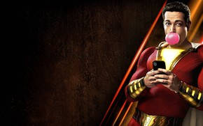 Picture hero, costume, phone, bubble, smartphone, hero, gum, DC comics, Shazam, shazam, DC, 2019, Billy Batson, …
