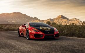 Picture design, car, the front, LAMBORGHINI, HURACAN