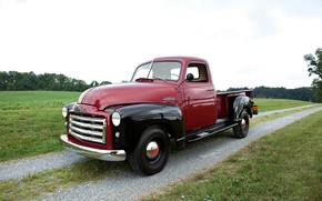 Picture road, field, 150, pickup, GMC, 1949, Pickup Truck, GMC 150