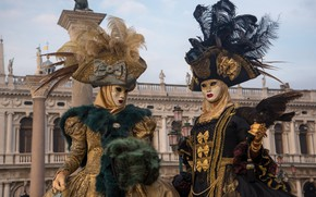 Picture Italy, Venice, carnival, costumes, 2015