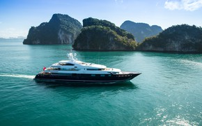 Picture the ocean, coast, yacht, Singapore, Singapore, luxury yacht, Yacht Show 2019