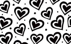 Picture texture, hearts, white background, Background, Heart