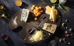Picture food, cheese, palette, still life