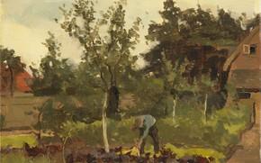 Picture oil, picture, 1922, The garden, Willem Witsen, Виллем Витсен
