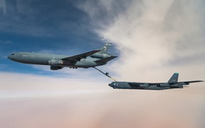 Picture UNITED STATES AIR FORCE, Boeing B-52 Stratofortress, American strategic bomber, tanker aircraft, McDonnell Douglas KC-10 …