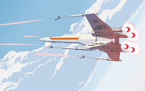 Picture Minimalism, Fighter, Star Wars, Fighters, X-Wing, Science Fiction, X-wing, Transport & Vehicles, Line Art, LineArt, …