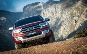 Picture Ford, front view, Everest, Limited, 4WD, 2015