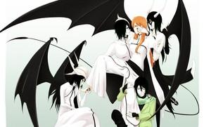 Picture art, bleach, bleach, arancar, Espada, Ulquiorra Schiffer, Inoue Orihime