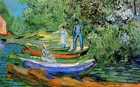 Picture Vincent van Gogh, Auvers-sur-Oise, Bank of the Oise at Auvers