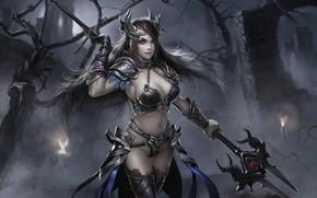 Picture girl, warrior, fantasy, art