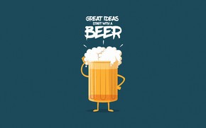 Picture Minimalism, Beer, Glass, Background, Drink, Art, Illustration, Characters, Comic Art, Foam, Nothing like a GOOD …