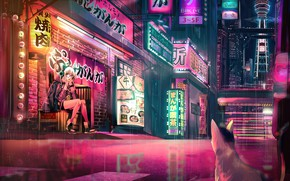 Picture girl, the city, headphones, ears