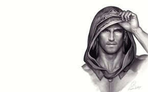 Picture face, background, hood, guy
