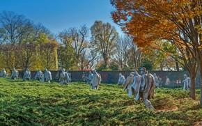Picture Washington, USA, DC, День Памяти, Мемориал ветеранам корейской войны