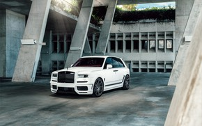 Picture Rolls Royce, White, SUV, Exclusive, Cullinan