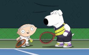 Picture Family guy, Stewie, Tennis, Family Guy, Cartoon, Brian Griffin, Brian, Stewie, Stewie Griffin, Stewie Griffin, ...