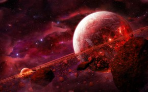 Picture Color, Stars, Planet, Space, Nebula, Style, Planet, Fantasy, Planets, Art, Stars, Space, Art, Satellite, Planet, …