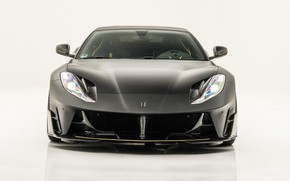 Picture Ferrari, supercar, front view, Mansory, Superfast, 812, 2019, Stallone Black
