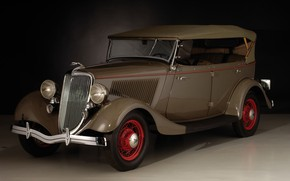 Picture auto, old, retro, Ford, Deluxe, 1934, Phaeton, V8