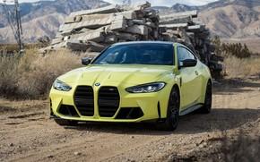 Picture mountains, posts, BMW, BMW, BMW M4, 2021