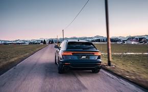 Picture Audi, the evening, Germany, rear view, crossover, ABBOT, 2020, RS Q8