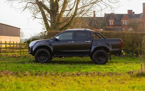 Picture black, pickup, in profile, Isuzu, 2020, Arctic Trucks, D-Max, UK version, AT35