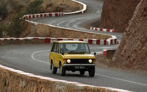 Picture asphalt, Land Rover, Range Rover, 1970, mountain road, 4x4, SUV