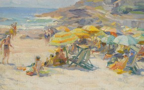 Picture beach, 1920, Mabel May Woodward, Mabel May Woodward, Perkins Cove. Ogunquit. Maine