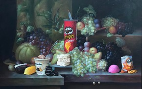 Picture Sweets, Grapes, Food, Still life, Chips