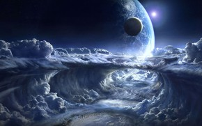 Picture The SKY, CLOUDS, PLANET, The MOON, EARTH, SURFACE, CLOUDS