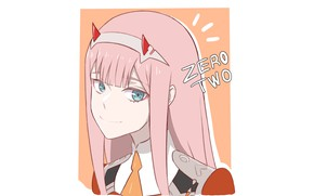 Picture girl, portrait, 002, Darling In The Frankxx, Cute in France, Zero Two