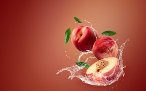 Picture water, squirt, background, nectarine