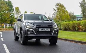 Picture grey, pickup, Isuzu, D-Max, 2019, UK version, XTR