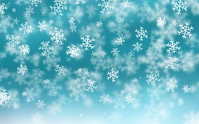 Picture snow, snow, background, winter, blue, snowflakes, winter, Christmas, blue, background, snowflakes
