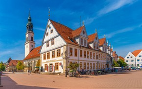 Picture Germany, Church, Germany, St Mary's Church, architecture, Old Town Hall, The, area, Celle, St. Mary's …