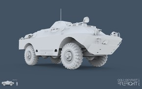 Picture 3ds max, CC Firefight 1985, keyshot, cold conflict, Firefight 1985, BRDM 2