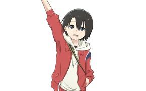 Picture girl, white background, Form voice, You No Katachi
