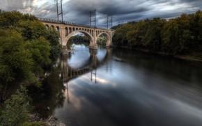 Picture bridge, nature, river