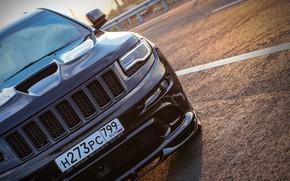Picture road, sunset, srt, road, srt8, jeep, jeep grand cherokee, jeeper, jeep srt, ingushetia, Ingushetia, Nazran, …