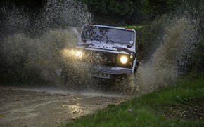 Picture water, light, Land Rover, Defender, 2013, 2014, Challenge, Bowler