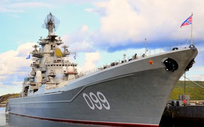 Picture cruiser, Orlan, heavy, atomic, rocket, the project 1144, Peter the great