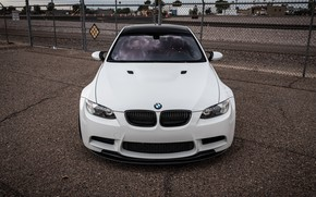Picture bmw, white, e92, front of the car